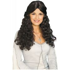 Arwen Costume Wig Lord of the Rings Adult Brunette Medieval Lady Elf Princess