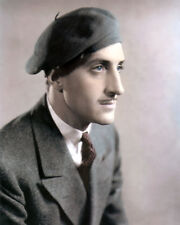 "BASIL RATHBONE SOUTH AFRICAN BORN HOLLYWOOD ACTOR 8x10"" HAND COLOR TINTED PHOTO"