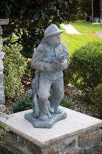 "36"" FIREFIGHTER HOSEMAN - plumbed outdoor garden statue"
