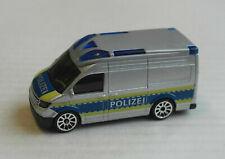 Majorette VW Volkswagen Crafter silbermetallic/blau POLIZEI German Police Van
