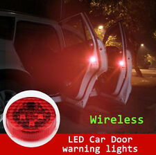 2x Car Door Open Led Strobe Light Wireless Warning Flash Indicator Hit Avoidance