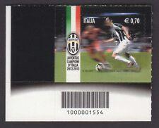 Italia Repubblica 2013 Scudetto Juventus con Codice a Barre MNH**