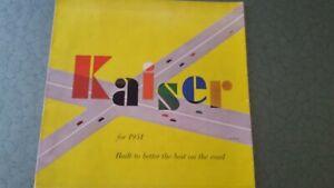 1951 KAISER folder - brochure