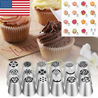 20Pcs Russian Tulip Flower Cake Icing Piping Nozzles Decorating Tips Baking Tool
