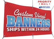 2' x 8' Custom Banner, Full Color, Free Design, Folded Edges & Grommets
