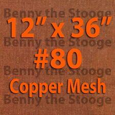 "100% Copper 80 Mesh / 200 Micron / Scratchbuilding / Dry Sift Screen 12""x36"""