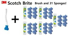 31 Refills with One Cleaning Stick Package Scotch Brite Toilet Brush Scrub