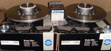 TRAFFIC  VIVARO 1.6  REAR 2 BRAKE DISCS PADS AND FITTED WHEEL BEARINGS ABS RINGS