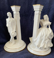 Franklin Mint Gone With The Wind Candlesticks 50th Anniversary
