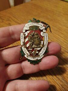 Anstecker 1. Reichsverband Volks- u. Gebirgstrachtenverein 1908, Nadel abgebroch
