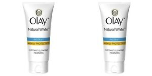 Olay Natural White Light Instant Glowing Fairness Cream 2x 20g Free Shipping