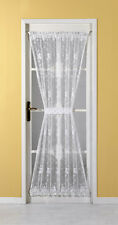 EMMA ENCHANTED FLORAL NET/LACE/VOILE DOOR CURTAIN with Tieback~White Top Quality