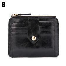 Men Leather Zipper Button Mini Wallet ID Credit Card Holder Coin Key Purse,Pro