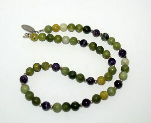 """19"""" Connemara Marble & Amethyst Beads Necklace All That Glisters Ireland"""