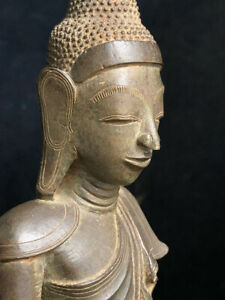 18th-19th c Southeast Asia Burma Myanmar late Shan/early Mandalay bronze Buddha