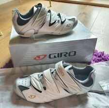 GIRO SANTE WOMENS Cycling Road shoes. SIZE 7. Silver and White