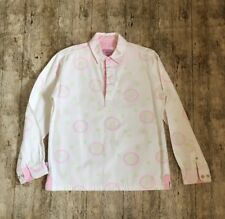 Gorgeous! JOULES Heavy Cotton Canvas Top Blouse Shirt ~SMALL 10/12~ Pink Floral