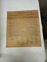 Vintage Distressed Copy Declaration Of Independance 14.5x13.75 (Ml) (Tube 4)