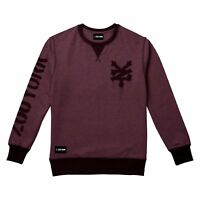 ZOO YORK Mens Crew Neck Stencil Jumper Sweater Skate Top