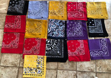 lot of 16 vintage bandanas  China & Unmarked