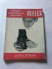 "livre photo "" pratique des appareils reflex "" 1957"