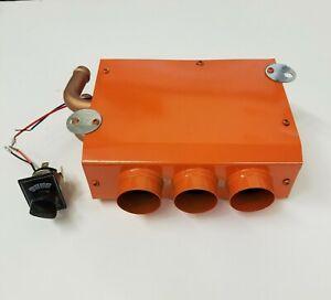 """Universal Underdash Heater w/ 3 Speed Switch 12V Under Dash Heat 1-7/16"""" 12 Volt"""