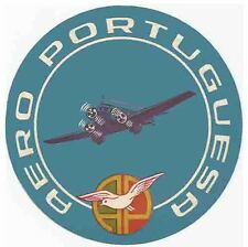 Aero Portuguese  Portugal Vintage Looking  Airline   Sticker Decal Luggage Label