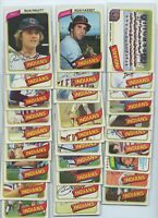 1980 TOPPS  CLEVELAND INDIANS TEAM SET (29 Cards) HARGROVE, BONDS, BARKER