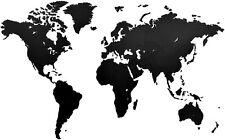 Wanddekoration Weltkarte 180 X 108 Cm schwarzes Holz