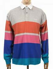 Automation Rugby Polo Shirt - Heather Ash Multi