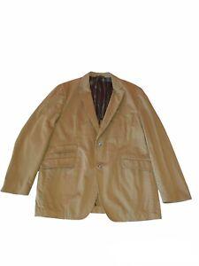 Kroon Men's Modern Cotton 2-Button Jacket Blazer Khaki Size 44R EE111