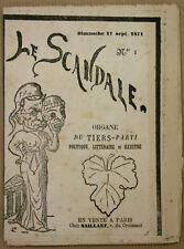 1871 LE SCANDALE NUMÉRO 1 DIMANCHE 17 SEPTEMBRE 1871
