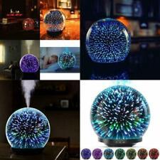 Essential Oil Diffuser Ultrasonic Oils Humidifier 3D Glass Globe 200Ml Led Light