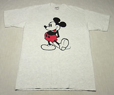 New listing Vintage Mickey Mouse Disney T-Shirt (90s) Heather Gray New/Nos/De 00004000 Adstock! L