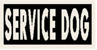 SERVICE DOG Patch W/ VELCRO® Brand Fastener Morale Tactical Emblem White