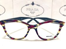 Prada Eyeglasses VPR 12T VAP-1O1 Women Cat Eye Burgundy/Green Tortoise 51mm New