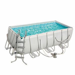 Bestway 56458 Rectangular Steel Frame Pro Swimming Pool 4.2m 14ft