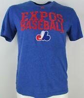 Montreal Expos Vintage MLB Blue Majestic T-Shirt L