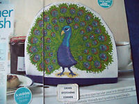 FEATHER FLOURISH SPECTACULAR PEACOCK TEA COSY ADD EMBELLISHES CROSS STITCH CHART