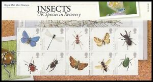 2008 GB Insects UK Species in Recovery Royal Mail Presentation Pack No.412