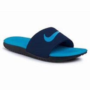 Nike Kids Kawa Slide GS/PS Youth Navy Blue Black Sandals 819352 New! Sizes