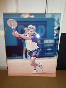 Andre Agassi Signed Autographed Tennis Legend 8x10 Photo FADED
