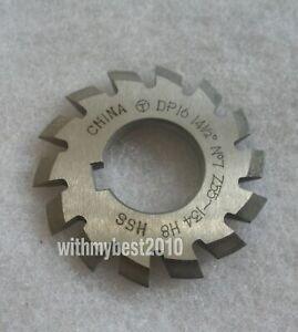 HSS Module 5 20 degree PA #2 Cutting Range 14-16 Teeth M5 Involute Gear Cutter