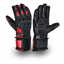 rouge/noir cuir moto cuir de vache MOTARD Gants Moto Gants d'hiver