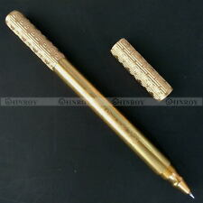 Cudgel Shape Brass Handmade Pen EDC Retro Copper Metal Tactical Ball Point Pen