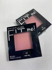 (2) Maybelline 40 Plum Blush New York Fit Me Cheek Powder