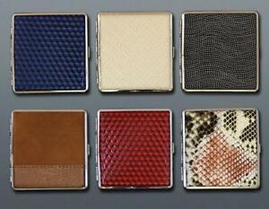 Metal Leather Cigarette Case King Size 20Pcs Tobacco Holder Box Elegant Stylish