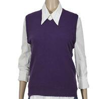Sisley Gilet Maglia Maglione Pullover Smanicato Donna Taglia S/M