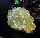 100% Natural Hand-carved Jade Pendant Jadeite Necklace plum flower 425H