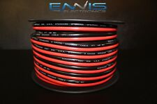 8 GAUGE RED BLACK SPEAKER WIRE 25 FT AWG CABLE POWER GROUND STRANDED COPPER